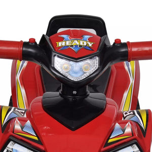 Litedpot Red Children's Ride-on Quad with Sound and Light
