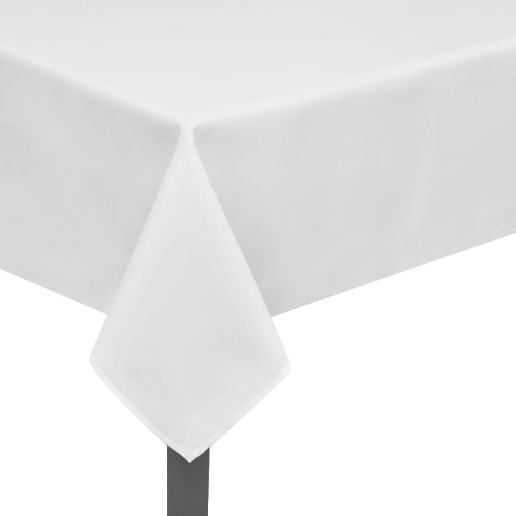 Litedpot 5 Tablecloths White 250 x 130 cm