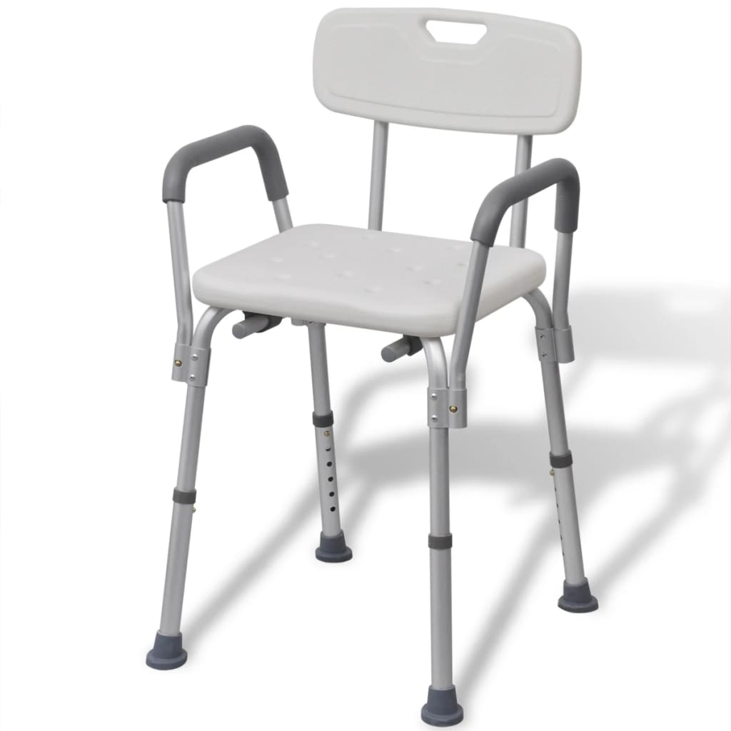 Litedpot Shower Chair Aluminium White