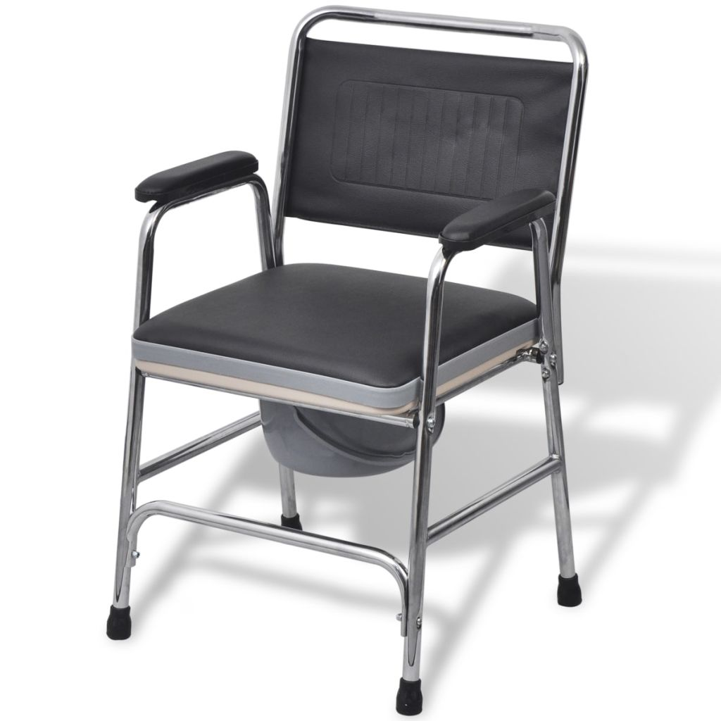 Litedpot Commode Chair Steel Black