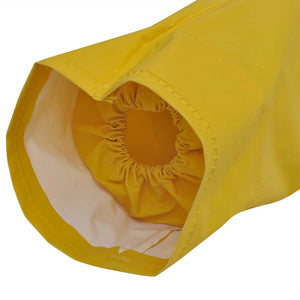 Litedpot Waterproof Heavy-duty 2-piece Rain Suit with Hood Yellow M