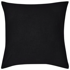 Litedpot 4 Black Cushion Covers Cotton 40 x 40 cm