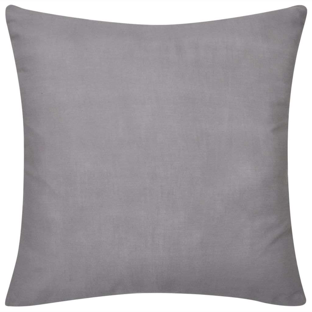 Litedpot 4 Grey Cushion Covers Cotton 50 x 50 cm