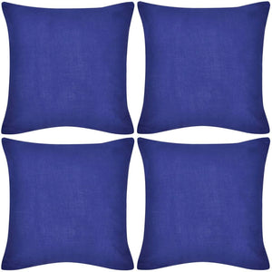 Litedpot 4 Blue Cushion Covers Cotton 80 x 80 cm