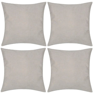 Litedpot 4 Beige Cushion Covers Linen-look 40 x 40 cm