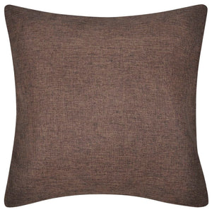 Litedpot 4 Brown Cushion Covers Linen-look 80 x 80 cm