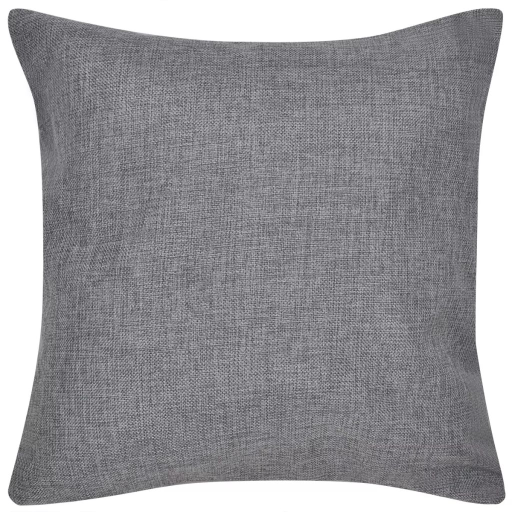 Litedpot 4 Anthracite Cushion Covers Linen-look 50 x 50 cm
