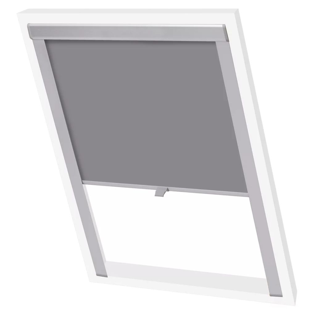Litedpot Blackout Roller Blinds Grey F06