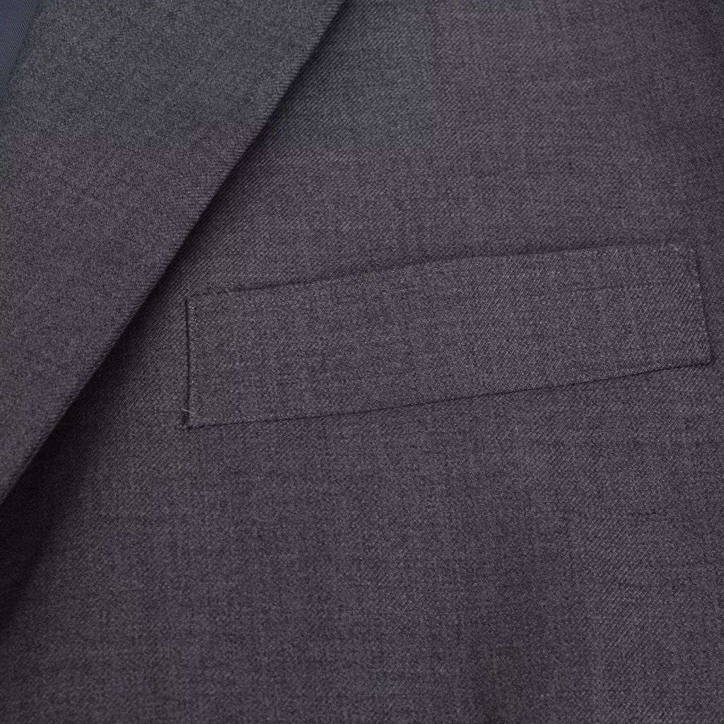 Litedpot Men's Two Piece Business Suit Grey Size 46