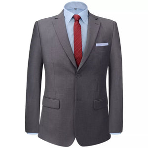 Litedpot Men's Two Piece Business Suit Grey Size 54