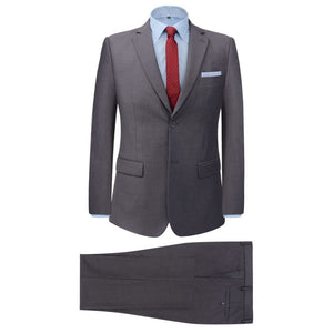 Litedpot Men's Two Piece Business Suit Grey Size 56