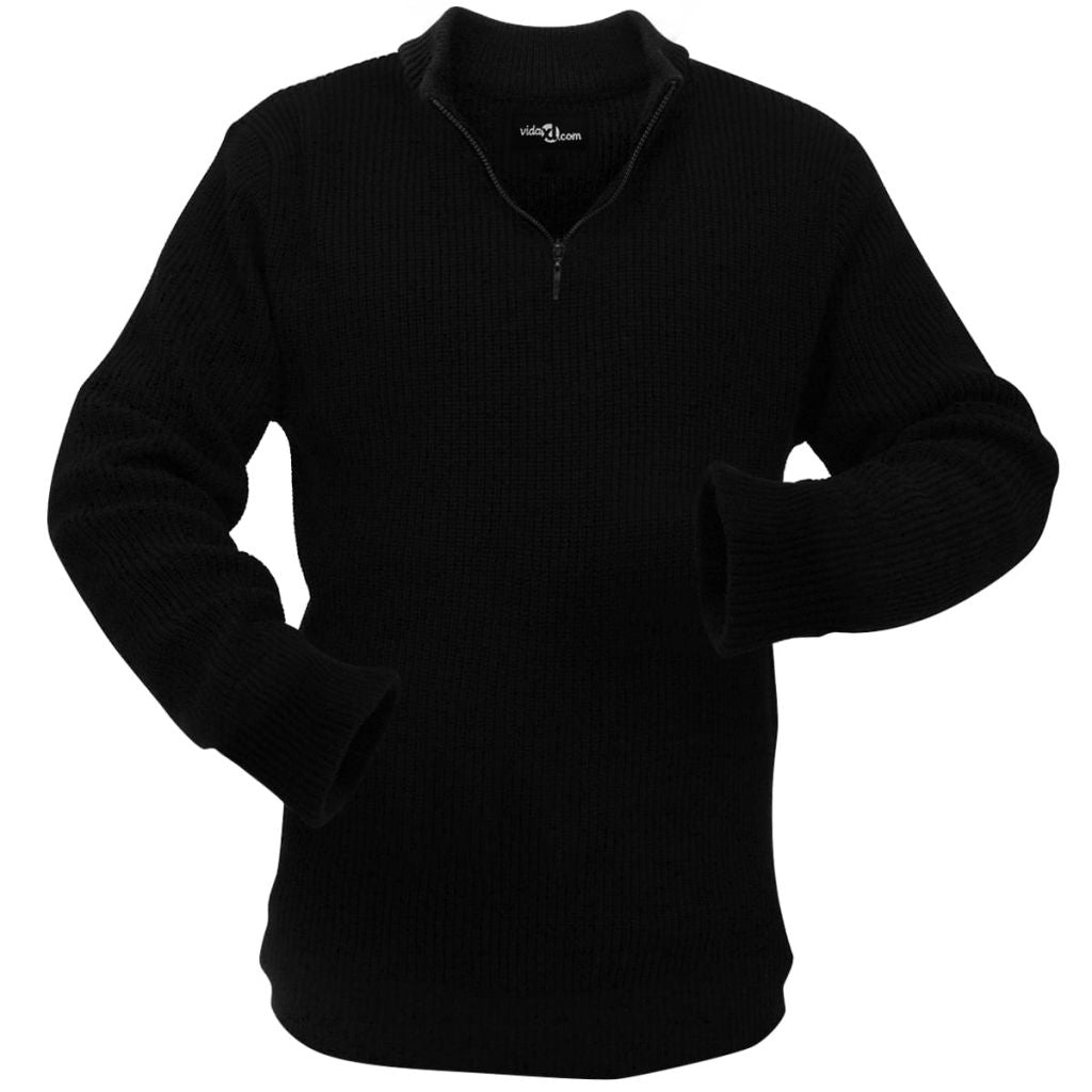 Litedpot Men's Work Pullover Black Size L