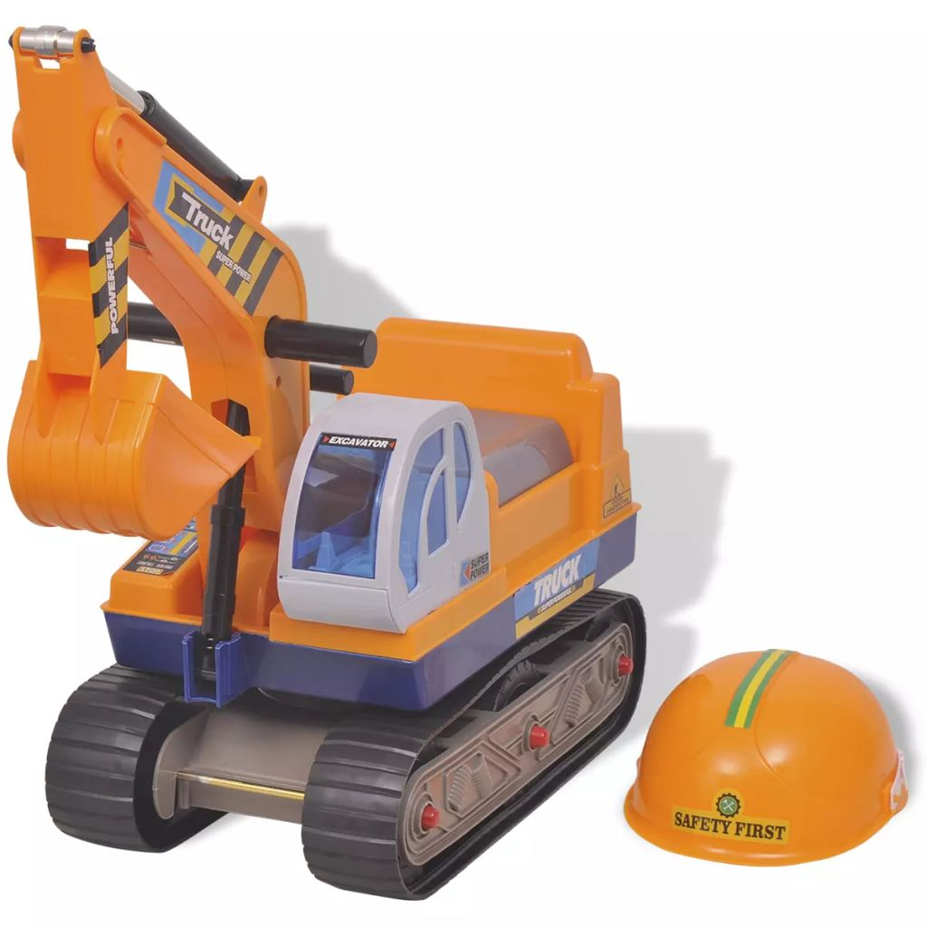 Litedpot Ride-on Excavator Plastic Yellow