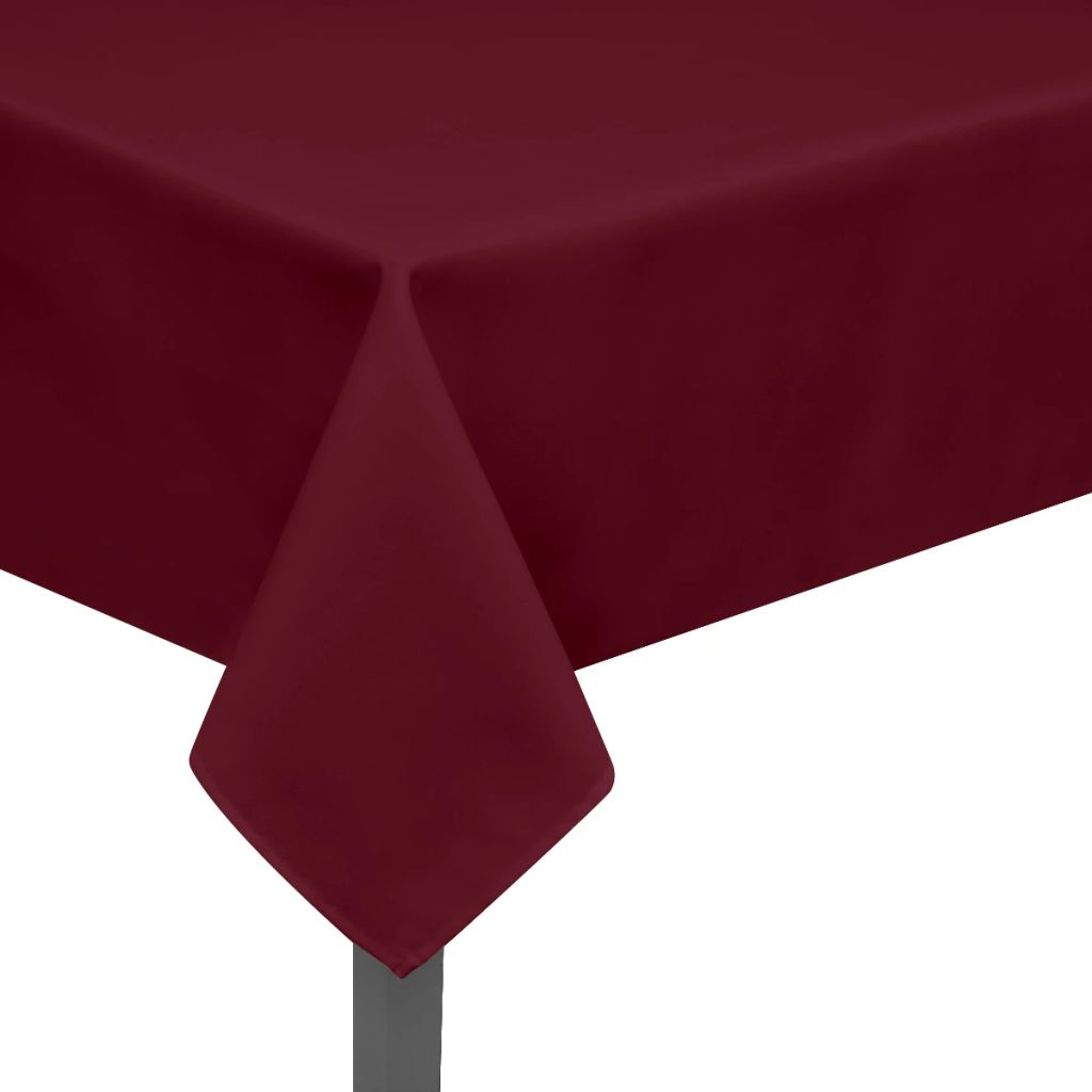 Litedpot Tablecloths 5 pcs Burgundy 250x130 cm