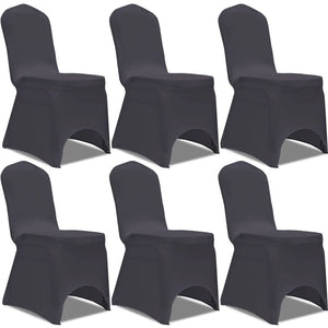 Litedpot Stretch Chair Cover 6 pcs Anthracite