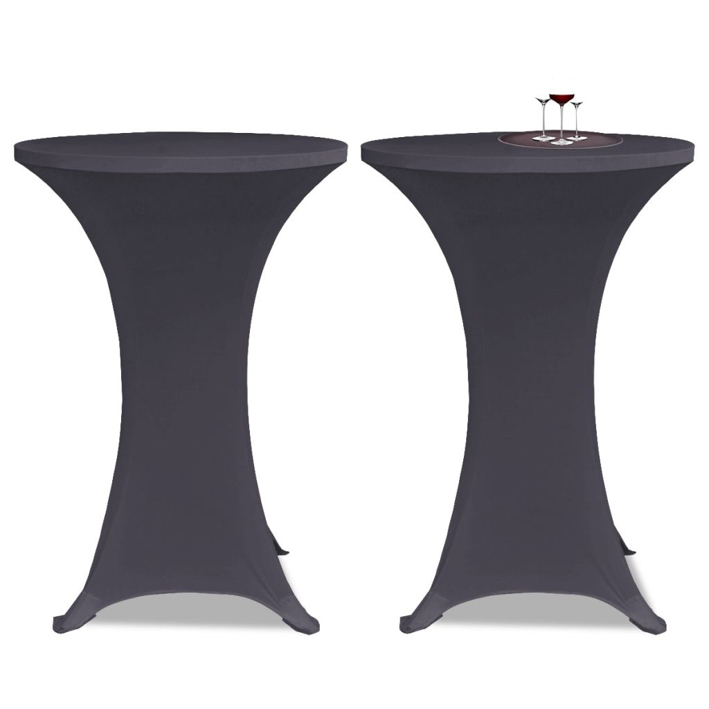 Litedpot Stretch Table Cover 2 pcs 80 cm Anthracite