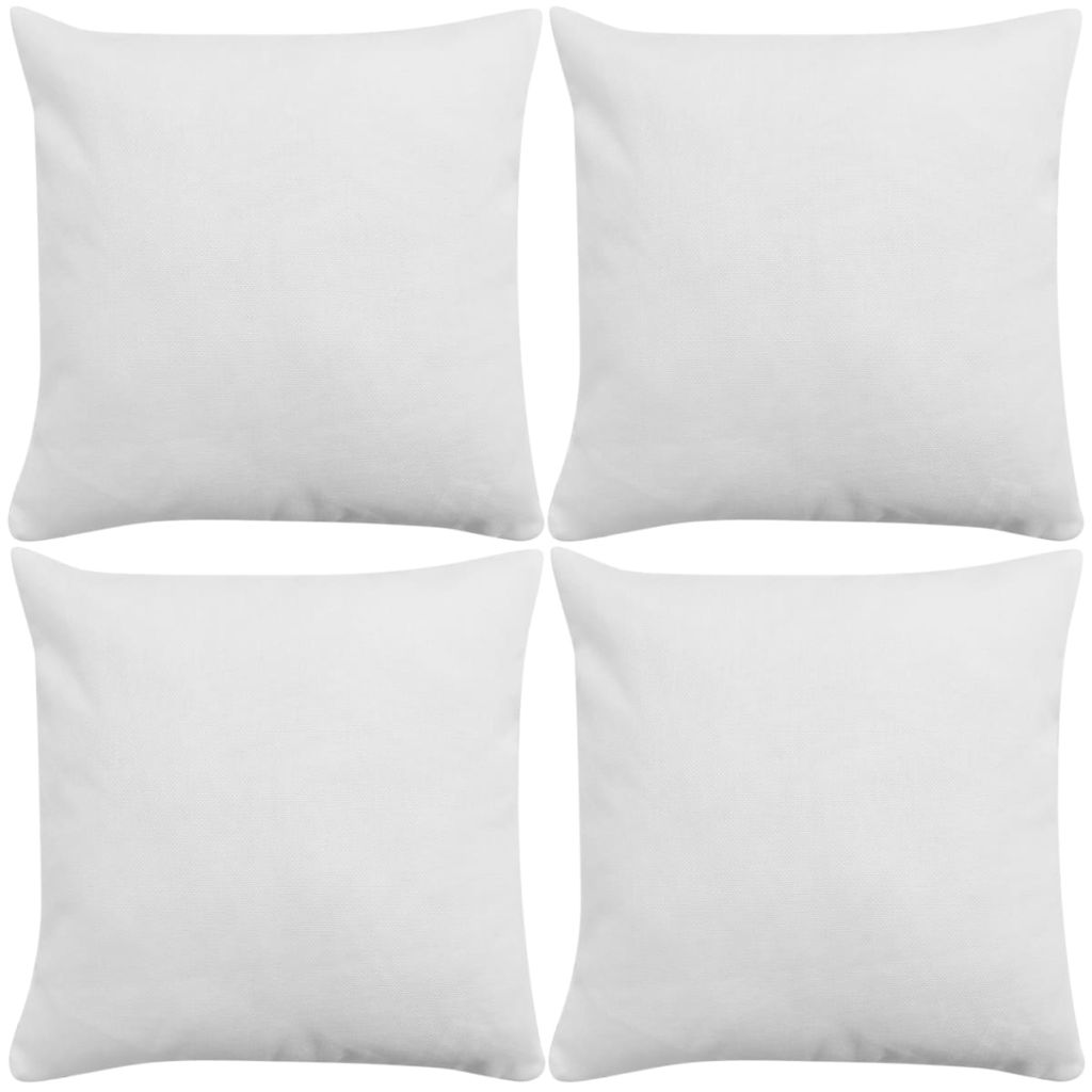 Litedpot Cushion Covers 4 pcs Linen-look White 50x50 cm
