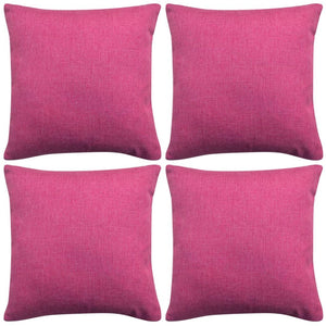 Litedpot Cushion Covers 4 pcs Linen-look Pink 50x50 cm