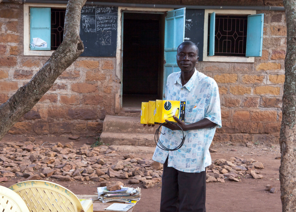Funded by: YEF! Yahoo! Spectrum, Homa bay 130 Solar Lamps