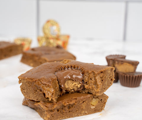 reese's peanut butter cup protein blondies