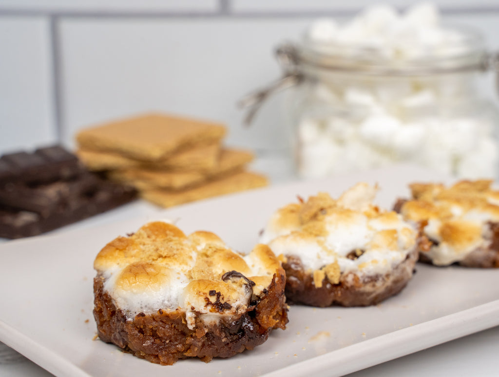 s'mores protein cookie cups