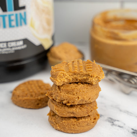 easy peanut butter protein cookies