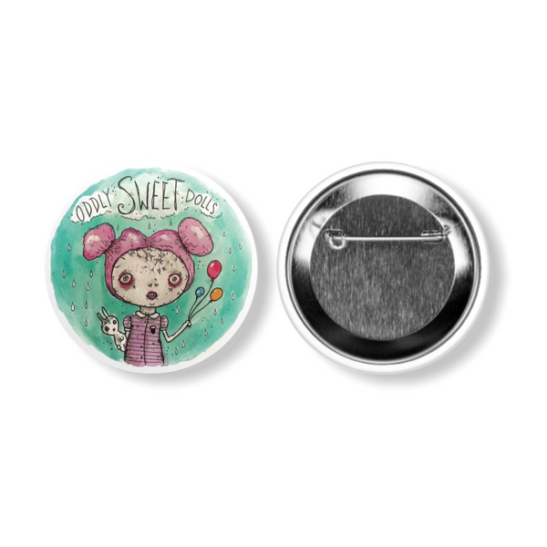Oddly Sweet Dolls Cartoon Big Round BUTTON Pin