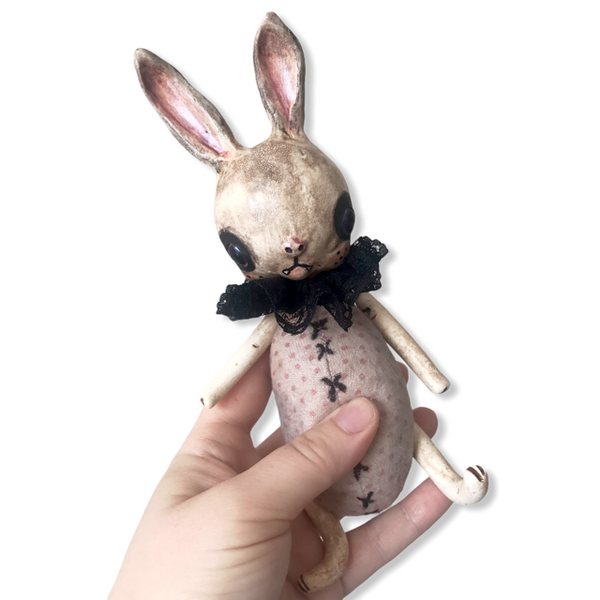 Vee The Vampire Bunny Art Doll