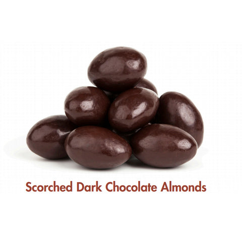 Scorched Almonds - Dark Choc Coated - 120gm