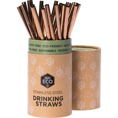 Ever Eco - Stainless Steel Straw - Rose Gold - Straight
