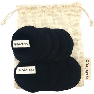 Ever Eco - Reusable Bamboo Facial Pads - Black - 10 pack