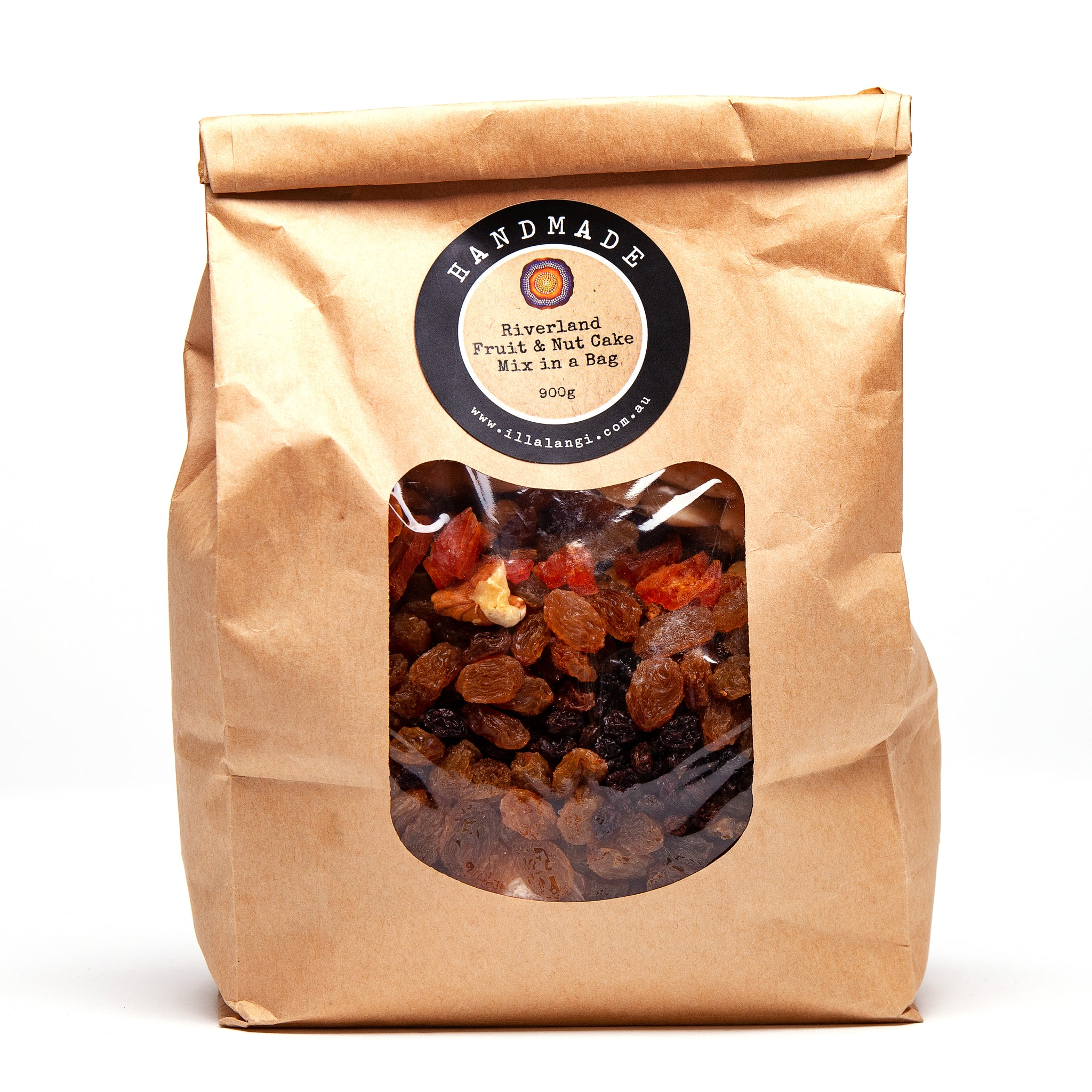 Illalangi Riverland Fruit & Nut Cake Mix in a bag
