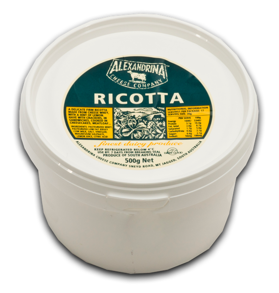 Alexandrina Cheese Co. Fresh Jersey Ricotta -500ml