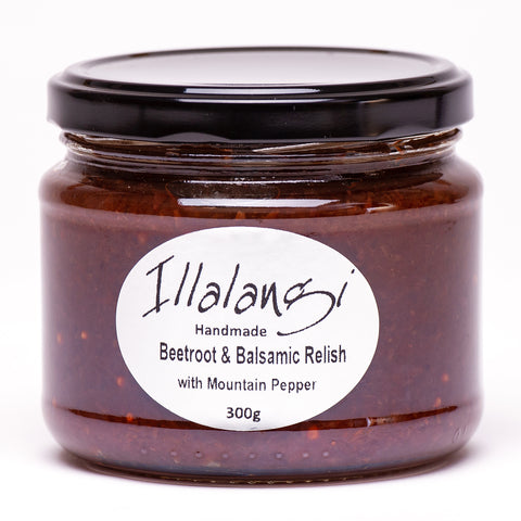 Illalangi Beetroot & Balsamic Relish with Mountain Pepperberries