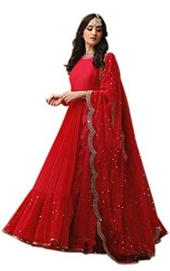 Womens Georgette Semi-stitched Salwar Suit