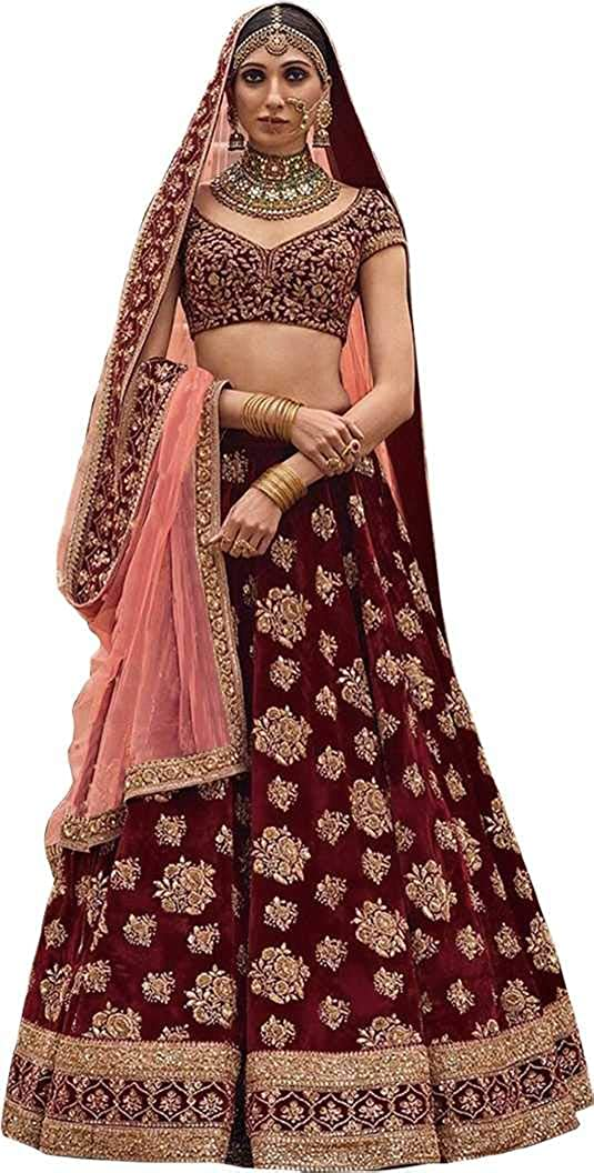 Womens Phantom Silk & Net Lehenga Choli