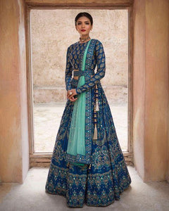 Beautiful Belted Bridal Designer Lehenga Choli
