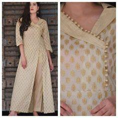 Cream Salwar Kameez Dress Material