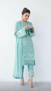 Festival  Wear sky Blue Colored Salwar Suit