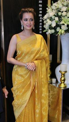 Gorgeous look wear designer piece soft silk saree