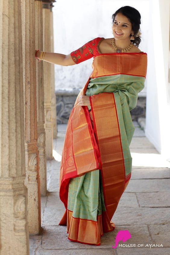 Party wear Designer saree with fancy blouse
