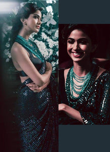 Launching Superhit Designer Teal Green Bollywood Saree Collection