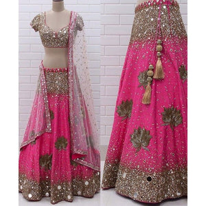 Rani Georgette Bamberg Latest Design Lehenga Choli Collection