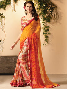 Zankar Multicolor Printed Saree