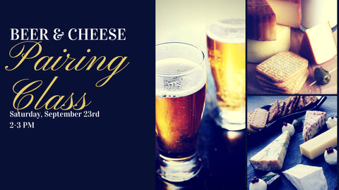 Beer and Cheese Pairing Class
