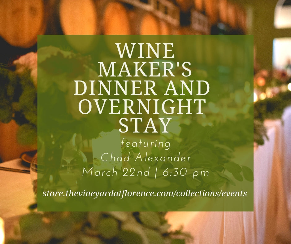March Wine Maker's Dinner and Overnight Stay Package
