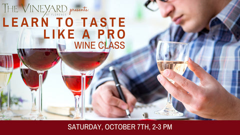 Learn to Taste Like a Pro Wine Class