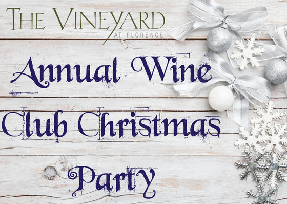 Wine Club Christmas Party - RSVP for 2 (promo code required, limit one per guest)