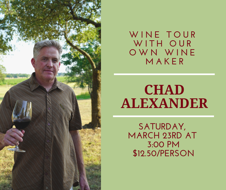 March Winery Tour with Chad Alexander