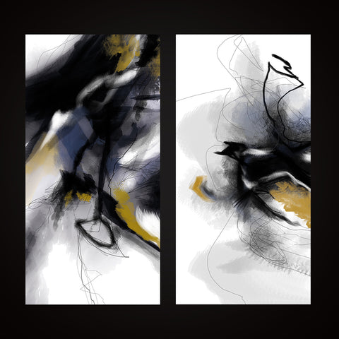 """Abstract"" print - diptych"